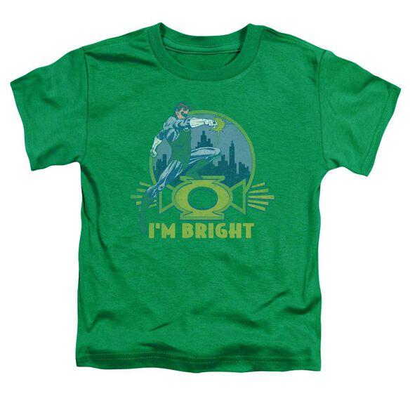 Green Lantern I'm Bright Short Sleeve Toddler Tee Kelly Green T-Shirt