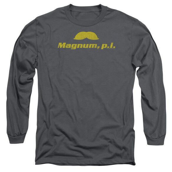 Magnum Pi The Stache Long Sleeve Adult T-Shirt