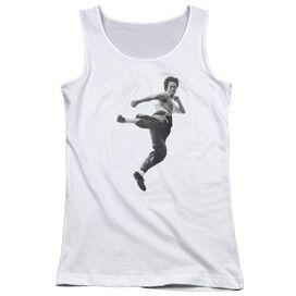 Bruce Lee Flying Kick - Juniors Tank Top