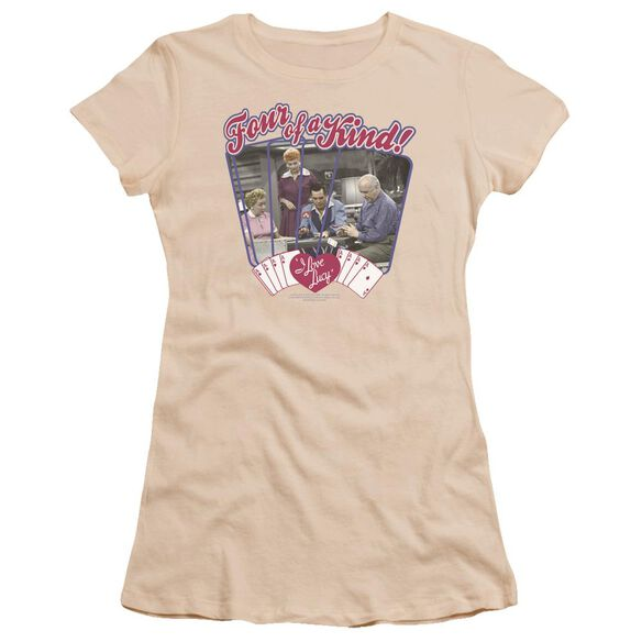 I Love Lucy Four Of A Kind Premium Bella Junior Sheer Jersey