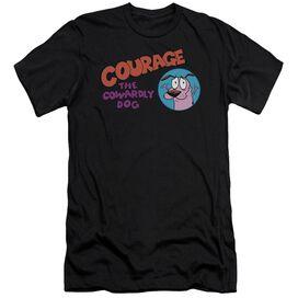 Courage The Cowardly Dog Courage Logo Short Sleeve Adult T-Shirt