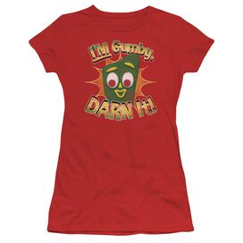 Gumby Darn It Short Sleeve Junior Sheer T-Shirt