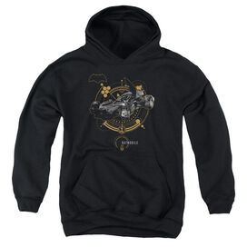 Justice League Movie Batmobile Youth Pull Over Hoodie