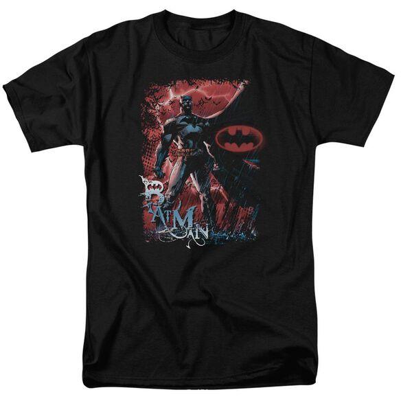 BATMAN GOTHAM REIGN - S/S ADULT 18/1 - BLACK T-Shirt