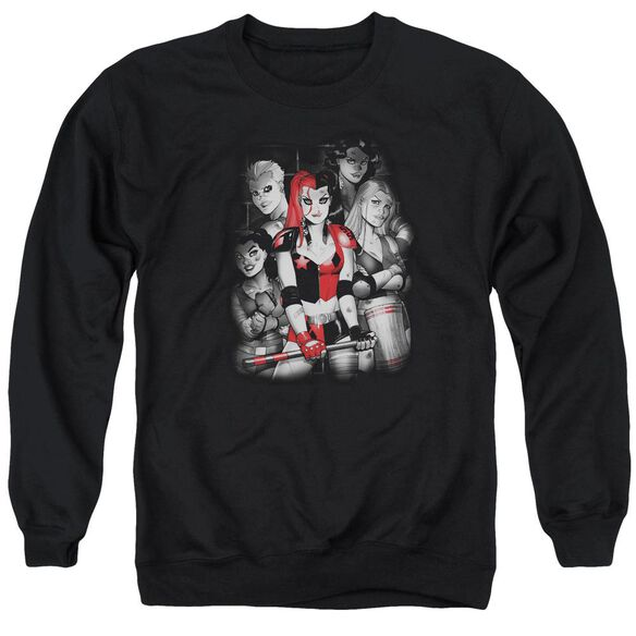 Batman Bad Gals Bw Adult Crewneck Sweatshirt
