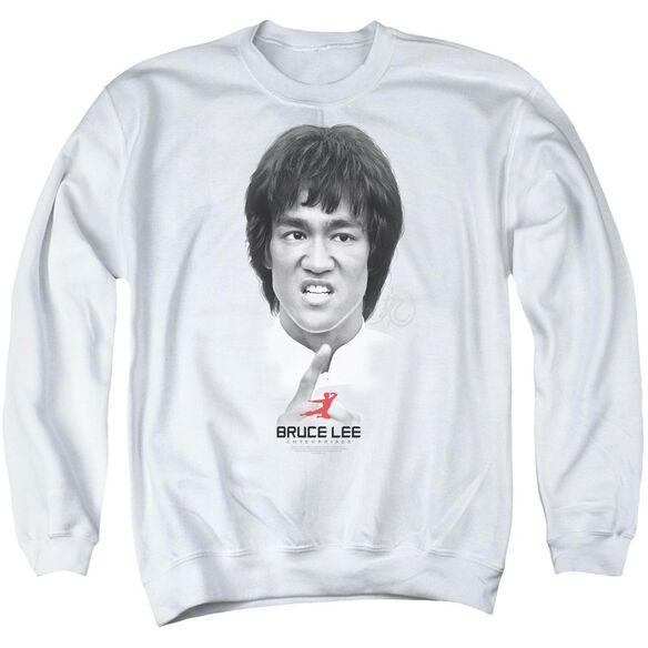 Bruce Lee Self Help Adult Crewneck Sweatshirt