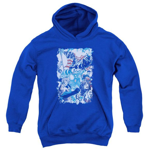 Jla American Justice Youth Pull Over Hoodie