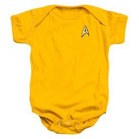 Star Trek Command Uniform Infant Snapsuit Gold Xl