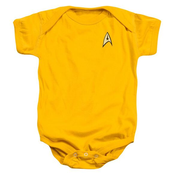Star Trek Command Uniform Infant Snapsuit Gold Xl
