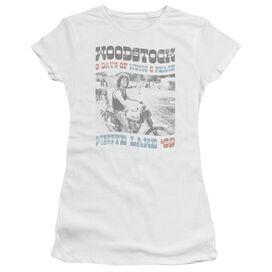 Woodstock Rider Short Sleeve Junior Sheer T-Shirt