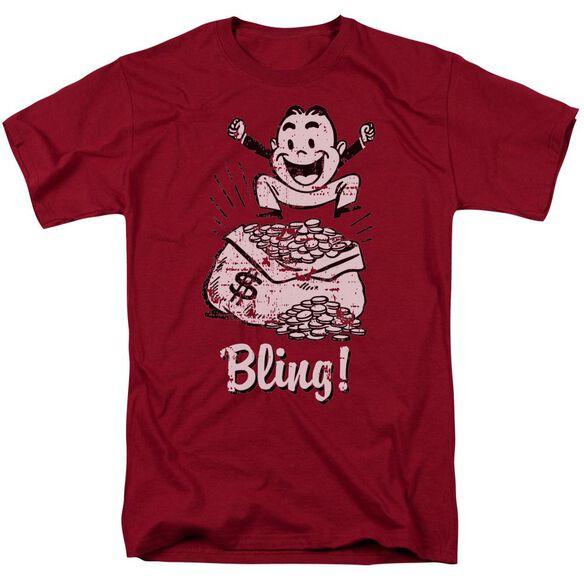 Bling 2 Short Sleeve Adult Cardinal T-Shirt