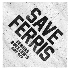 Ferris Buelle Save Ferris Bandana White