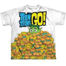 Teen Titans Go Burgers & Dogs Short Sleeve Youth Poly Crew T-Shirt