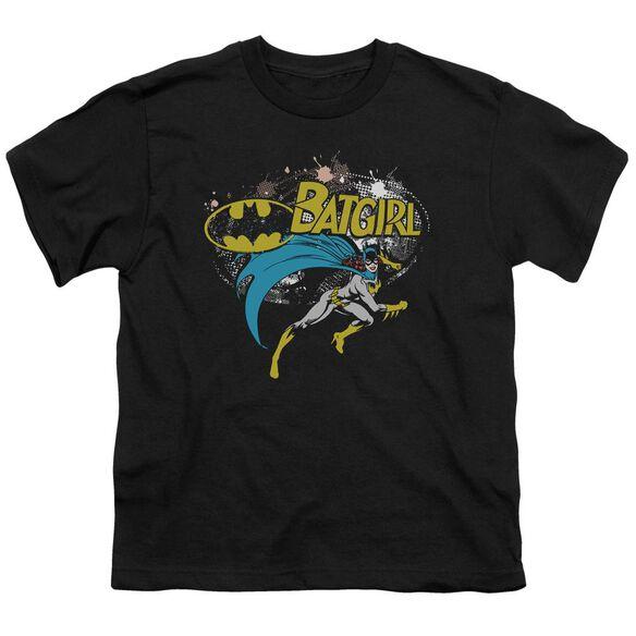Batman Batgirl Halftone Short Sleeve Youth T-Shirt