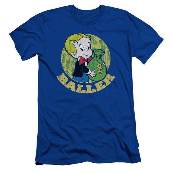 Richie Rich Baller Short Sleeve Adult Royal T-Shirt