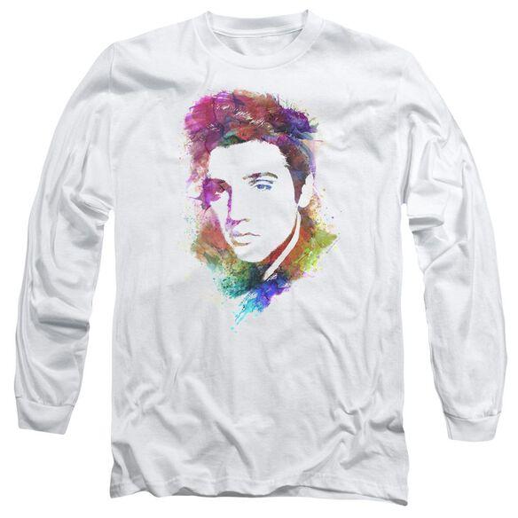 Elvis Presley Watercolor King Long Sleeve Adult T-Shirt