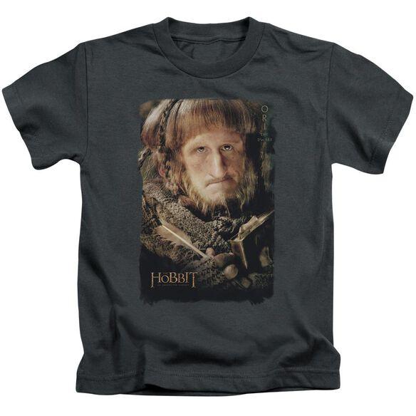 The Hobbit Ori Short Sleeve Juvenile Charcoal T-Shirt