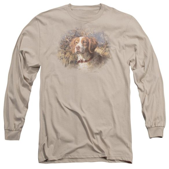 Wildlife Brittany Head Ii Long Sleeve Adult T-Shirt