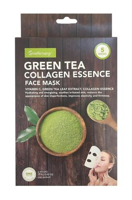 Spatherapy Green Tea Collagen Essence Face Mask - 5 Count
