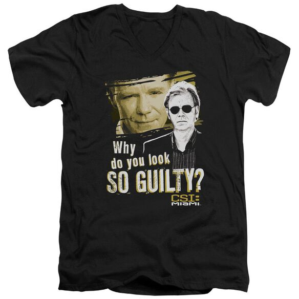 Csi Miami So Guilty Short Sleeve Adult V Neck T-Shirt