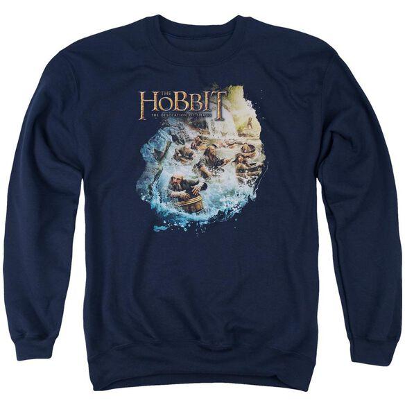 Hobbit Barreling Down Adult Crewneck Sweatshirt