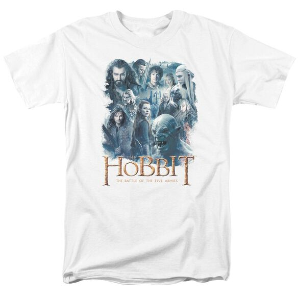 Hobbit Main Characters Short Sleeve Adult White T-Shirt