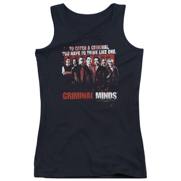 Criminal Minds Think Like One Juniors Tank Top