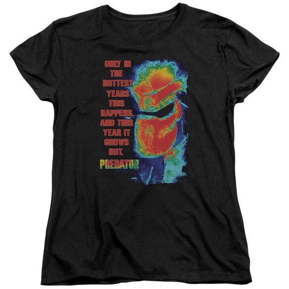 Predator Thermal Vision Short Sleeve Womens Tee Black T-Shirt