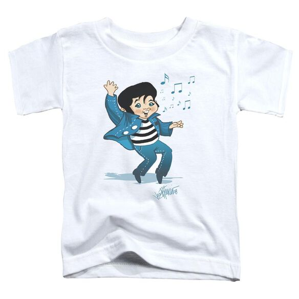 Elvis Lil Jailbird Short Sleeve Toddler Tee White Lg T-Shirt