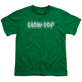 Tootsie Roll Blow Pop Logo Short Sleeve Youth Kelly T-Shirt