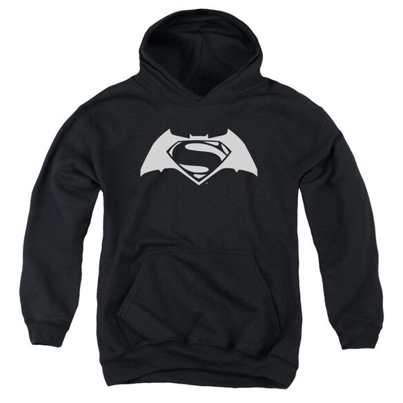 Batman V Superman Simple Logo Youth Pull Over Hoodie