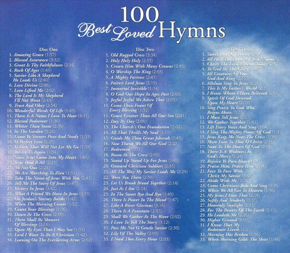 100 Best Loved Hymns(3 Pk)