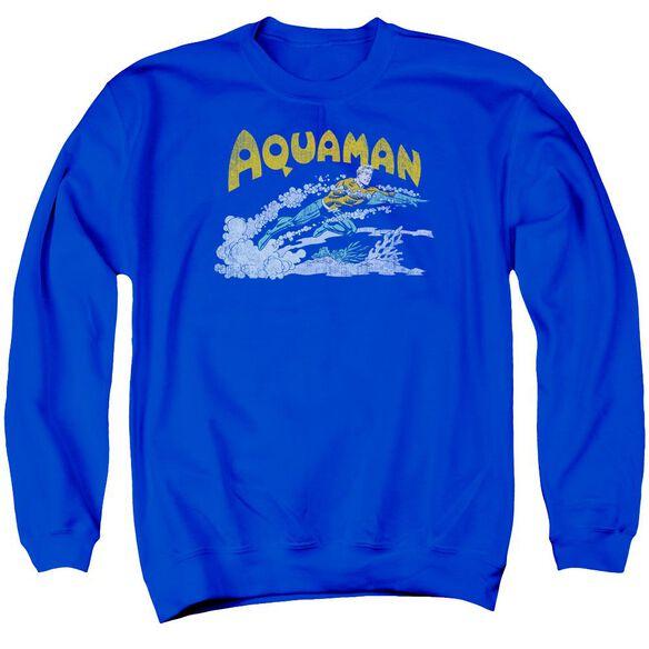 Dc Aqua Swim Adult Crewneck Sweatshirt Royal