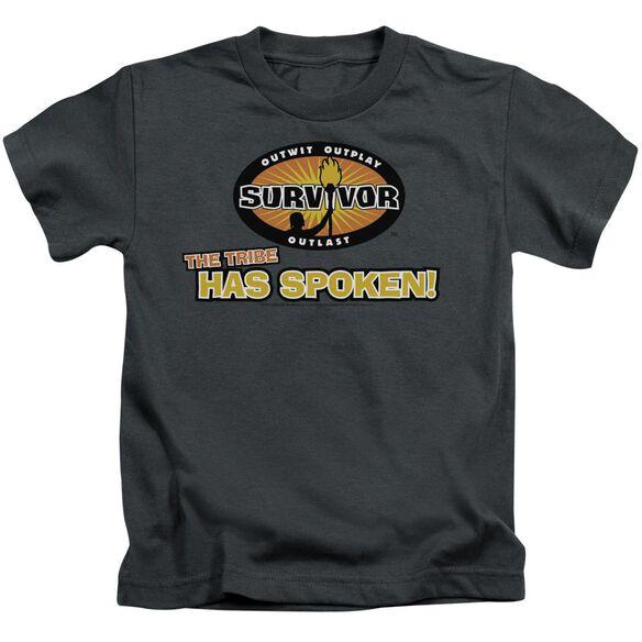SURVIVOR TRIBE HAS SPOKEN - S/S JUVENILE 18/1 - CHARCOAL - T-Shirt