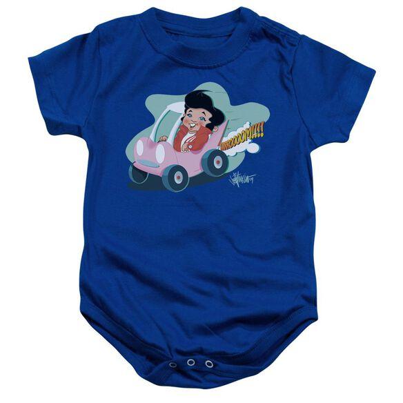 Elvis Speedway Infant Snapsuit Royal Blue Xl