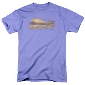Wildlife Tsavo Sunset Short Sleeve Adult Lavendar T-Shirt