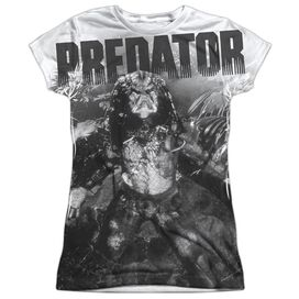 Predator In The Jungle Short Sleeve Junior Poly Crew T-Shirt