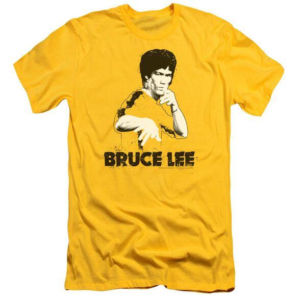 Bruce Lee Suit Splatter Short Sleeve Adult T-Shirt