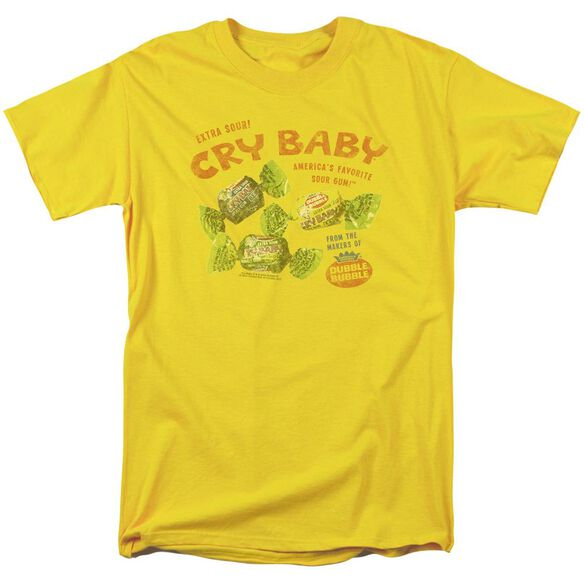 Cry Babies Vintage Ad Short Sleeve Adult Yellow T-Shirt