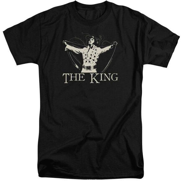 Elvis Ornate King Short Sleeve Adult Tall T-Shirt