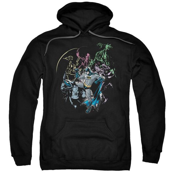 Batman Surrounded Adult Pull Over Hoodie