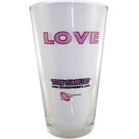 Green Lantern Love Glass
