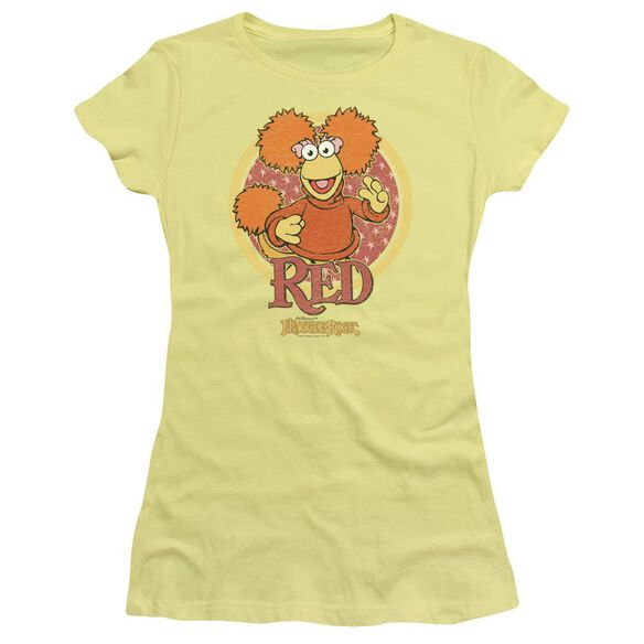 Fraggle Rock Red Circle Short Sleeve Junior Sheer T-Shirt