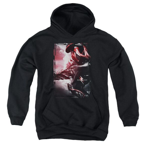 Power Rangers Red Zord Poster Youth Pull Over Hoodie