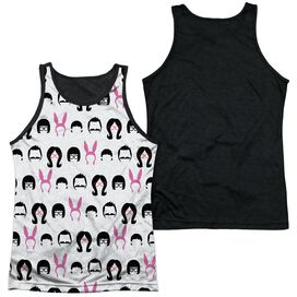 Bobs Burgers Family Of Icons Adult Poly Tank Top Black Back