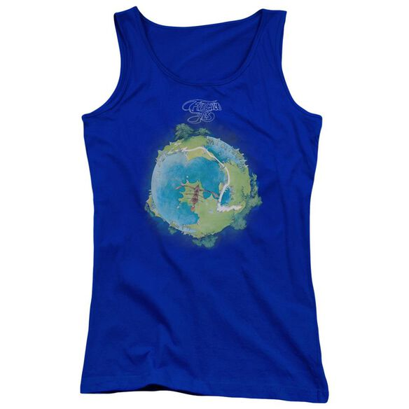 Yes Fragile Cover Juniors Tank Top Royal