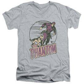 Phantom Phantom And Dog Short Sleeve Adult V Neck Athletic T-Shirt