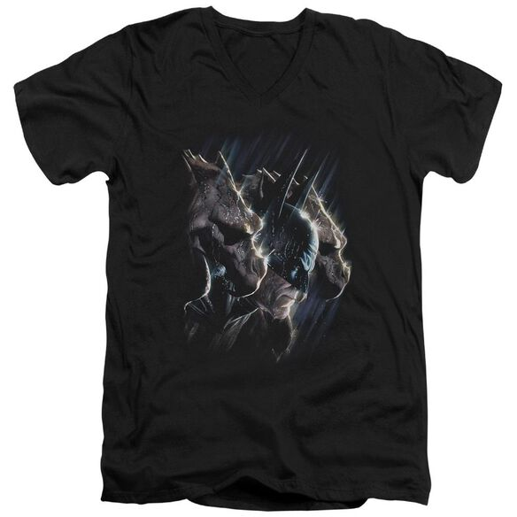BATMAN GARGOYLES - S/S ADULT V-NECK 30/1 - BLACK T-Shirt