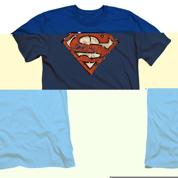 SUPERMAN RIPPED AND SHREDDED-S/S ADULT T-Shirt