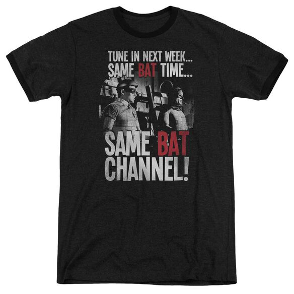 Batman Classic Tv Bat Channel Adult Heather Ringer
